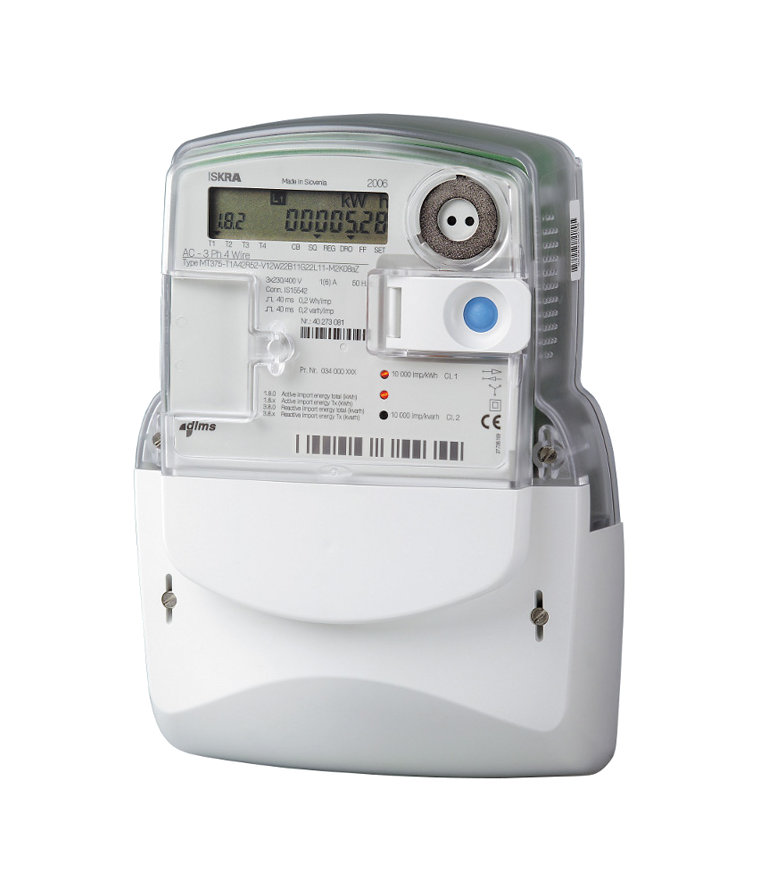 Secondary Electric Meter : Iskraemeco mt three phase meter decmetrics