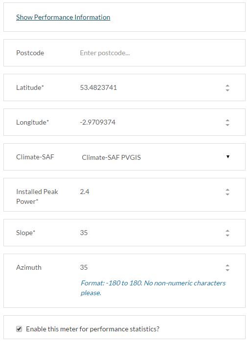 PVGIS Edit System Details